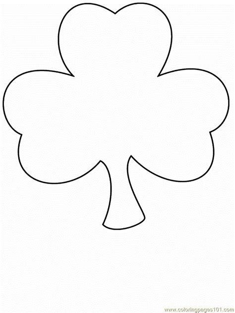 clover coloring page free simple shapes coloring pages