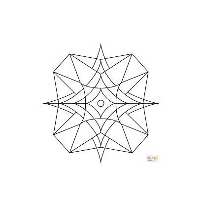 Kaleidoscope Coloring Pages Drawing Sand Stone Blasted