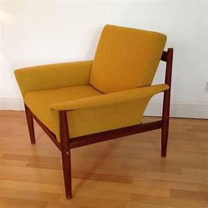 Fauteuil Scandinave Jaune : fauteuil scandinave jaune en teck france son grete jalk ~ Melissatoandfro.com Idées de Décoration