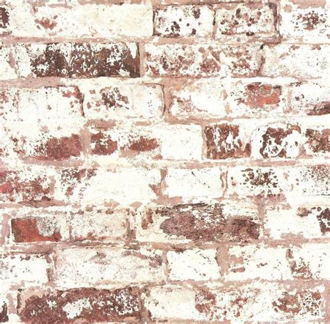 ps wallpaper rustic whitewashed brick red