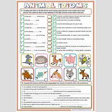 Animal Idioms Worksheet  Free Esl Printable Worksheets Made By Teachers
