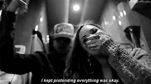 Demi Lovato Black And White Depression Lovatic Stay Strong