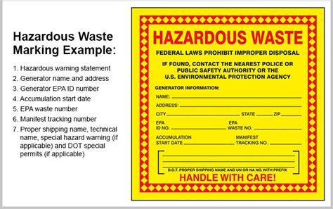 hazardous waste labeling  marking quick tips