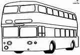 Bus Coloring Printable Decker Double sketch template