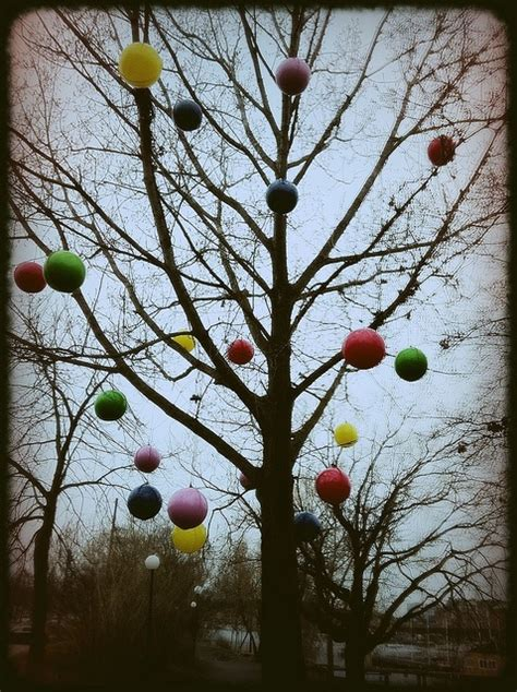 outdoor baubles christmas decor pinterest