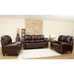 top grain leather sofa loveseat and armchair set sam s club