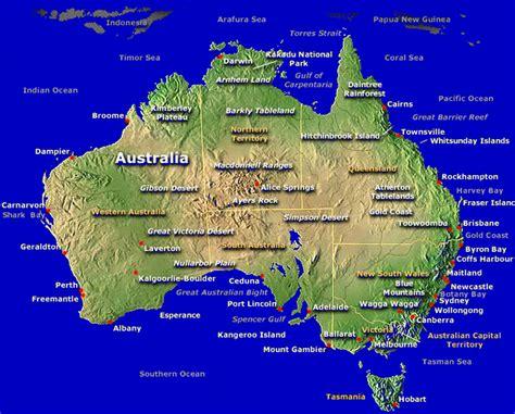 australia tourism australia tourist attractions map