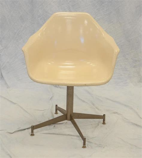 plastic fiberform swivel chair with metal base 30 1 2 quot h s