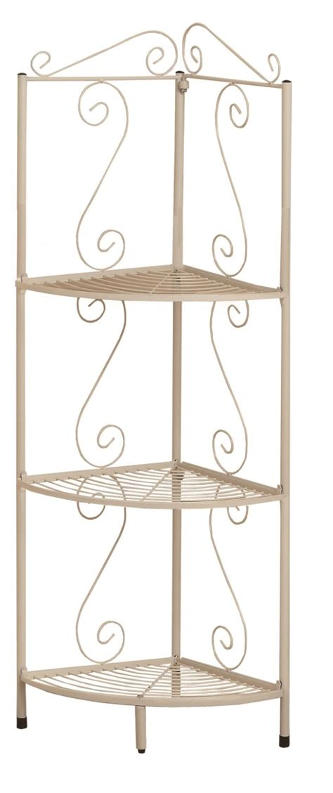 White Metal Etagere by 2102 White Hammered Metal 48 Quot Corner Display Etagere From