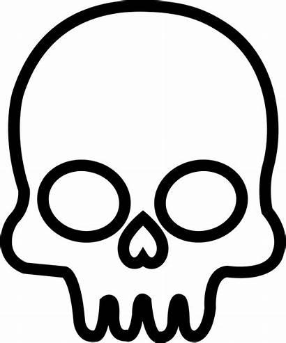 Skull Svg Outline Icon Frontal Onlinewebfonts Eps