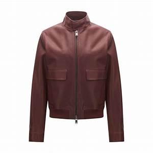 Veste En Cuir Rouge Homme : cuir rouge boss veste regular fit en cuir noble homme rouge sombre you talk ~ Melissatoandfro.com Idées de Décoration