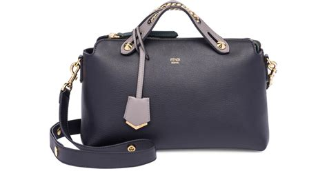 faace1b280e4 Lyst Fendi By The Way Chain Inset Leather Boston Bag In