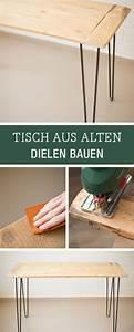 Hairpin Tischbeine Ikea : diy m bel tisch mit hairpin legs aus alten dielen bauen diy inspiration for a handmade table ~ Eleganceandgraceweddings.com Haus und Dekorationen
