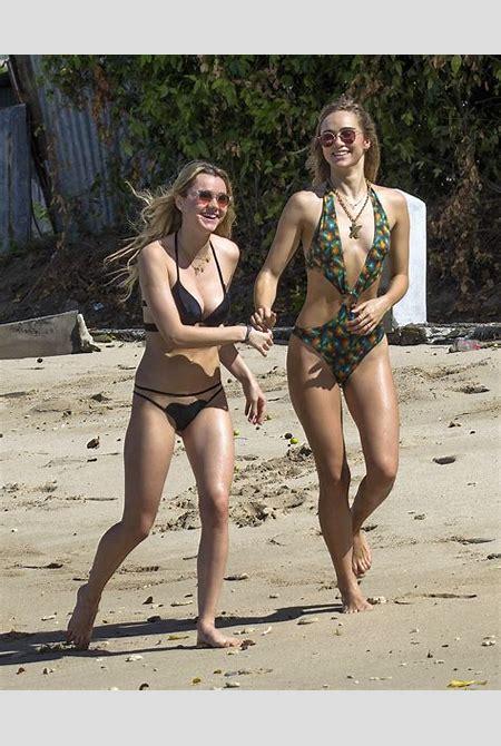 Suki And Immy Waterhouse Wearing Bikinis In Barbados | celebrity-slips.com