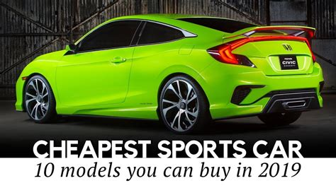 cheapest sports cars  sale   reviewing speeds