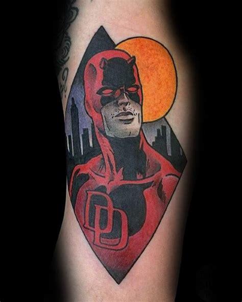 daredevil tattoo designs  men marvel comic ink ideas