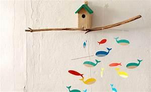 Baby Mobile Selber Machen : mobile aus bunten fischen zum selbermachen himbeer magazin ~ Buech-reservation.com Haus und Dekorationen