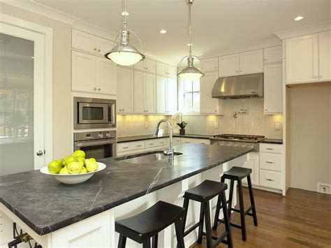 kitchen cabinets with soapstone countertops white kitchen island with soapstone countertop White