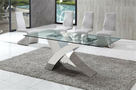 table en verre moderne table 224 manger design moderne et contemporain en verre