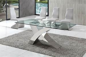 incroyable grande table en verre de salle a manger 1 With grande table en verre de salle a manger