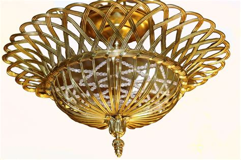 basket light fixture flush mounted basket light fixtures for at 1stdibs