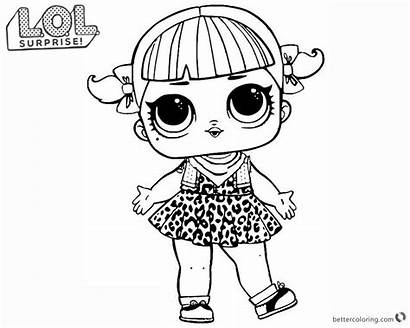 Lol Coloring Surprise Dolls Doll Pages Printable