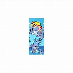Papier Peint Sticker : papier peint porte enfant dauphins 708 stickers muraux ~ Premium-room.com Idées de Décoration