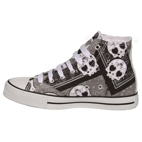 Rubber Boot Alternative by Bleeding Heart Boots Sugar Skull Shoes Trainers