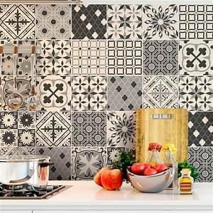 Stickers Carrelage Cuisine 15x15 : 60 stickers carrelages azulejos ataroa cuisine ~ Dailycaller-alerts.com Idées de Décoration