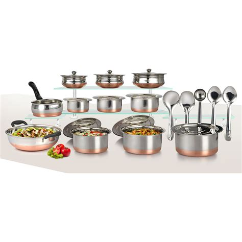 buy  pcs copper base cook serve set  pcs kitchen tools    price  india