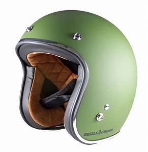 3/4 Open Face Vintage Helmet - Military Green | Old School ...