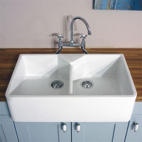 Astini Belfast 800 20 Bowl White Ceramic Kitchen Sink