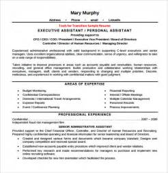functional resume template administrative assistant executive assistant resume 6 free sles exles format