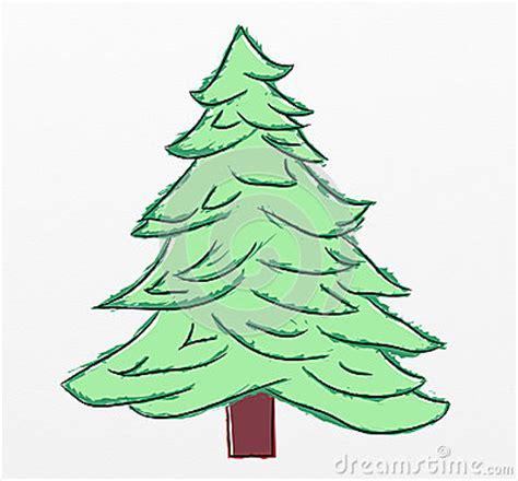 pencil drawings christmas trees tree sketch royalty free stock photos image 35840178