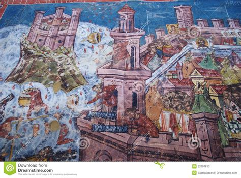 siege unesco moldovita siege of constantinople fresco stock photos