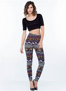Black Blue Red Grey Floral and Colorful Patterned Leggings Outfit Ideas for Girls ...