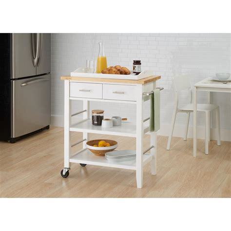 white kitchen cart white kitchen cart with drawers pull out tray
