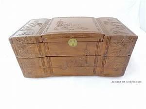 Antike Esstische Holz : antike gro e schmuck schatulle schmuckkasten holz verziert drachen motive ~ Michelbontemps.com Haus und Dekorationen