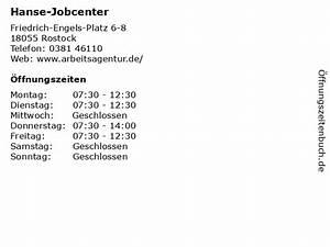 Hanse Center Rostock : ffnungszeiten hanse jobcenter friedrich engels platz 6 8 in rostock ~ Watch28wear.com Haus und Dekorationen