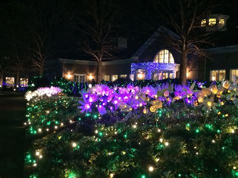 holiday lights at lewis ginter botanical gardens miss