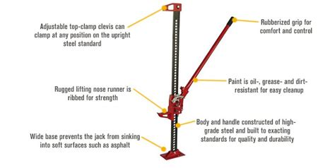 Strongway Farm Jack -3 1/2-ton Capacity, 5in.-40in. Lift