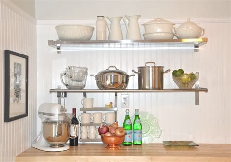 white wall shelves  effective storage  small kitchen