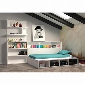 Desserte De Lit : chambre edmond lit coffre avec biblioth que achat vente chambre complete pas cher couleur et ~ Teatrodelosmanantiales.com Idées de Décoration