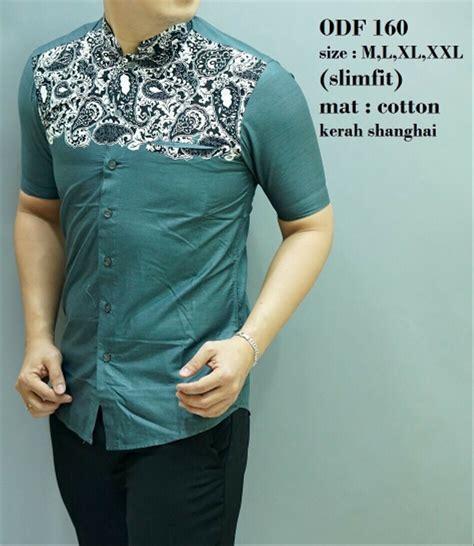 jual baju koko slimfit ob390 pakaian muslim pria orginal odza kemeja fashion pria batik