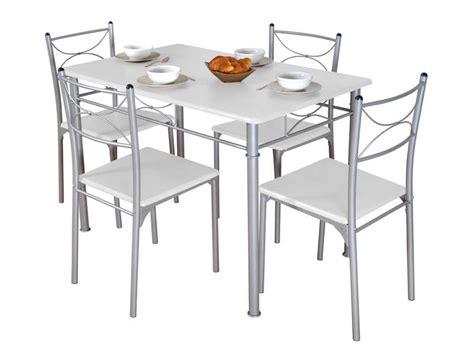 ensemble table rectangulaire  chaises tuti coloris