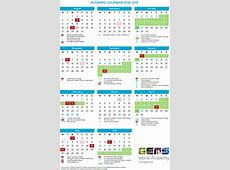 Academic calendar GEMS World Academy Singapore