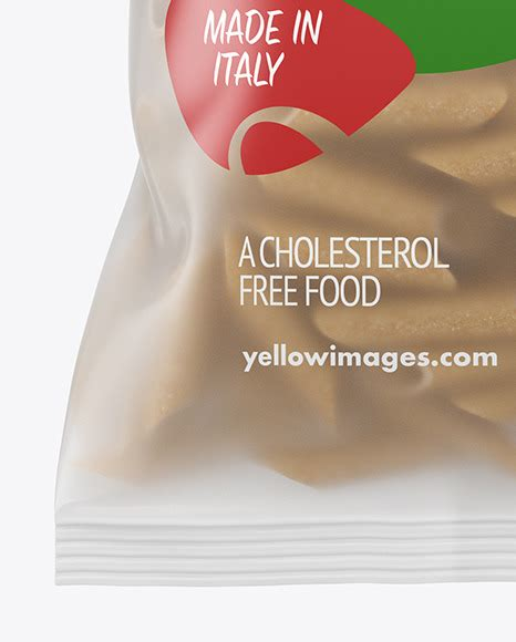 Frosted plastic bag with tricolor penne pasta mockup. Whole Wheat Penne Pasta Matte Bag Mockup - Download PSD ...