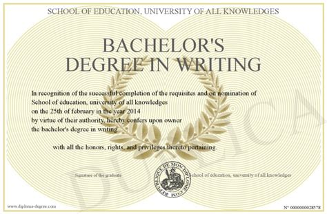 How To Write Your Bachelor Degree On A Resume by Bachelor S Degree In Writing