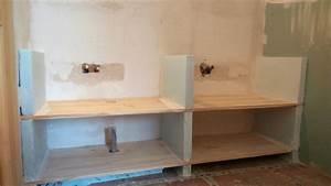 Plan De Travail Salle De Bain : fabriquer meuble salle de bain avec plan de travail ~ Premium-room.com Idées de Décoration