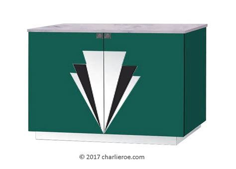 art deco lacquered painted  door sideboards drinks tv cabinets media cupboards